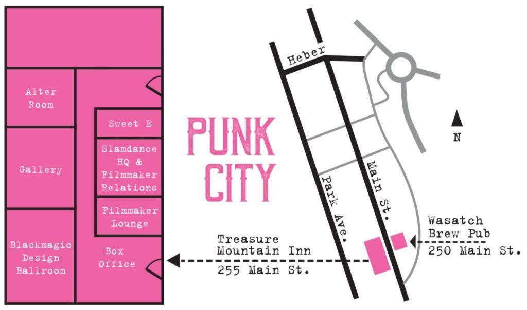 Map of Park City's Main Street